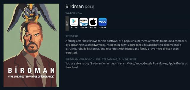 JustWatch_Birdman_Info