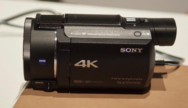 CES2016_Sony_AX53_4K_Handycam