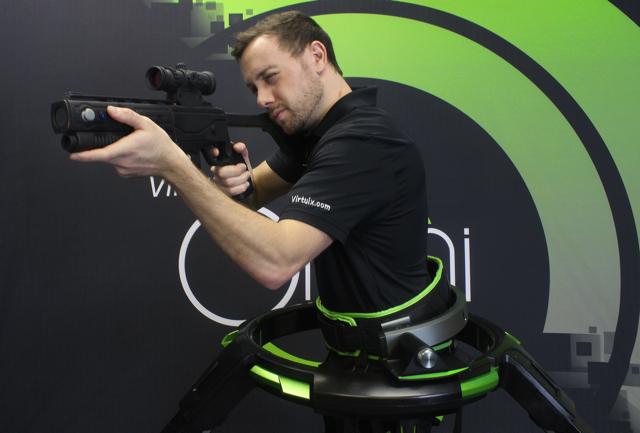 CES2016_Virtuix_Omni_VR_Gaming